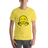 Emoji T-Shirt Store | Hugging Face emoji t-shirt in Yellow