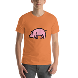 Emoji T-Shirt Store | Pig emoji t-shirt in Orange