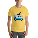 Emoji T-Shirt Store | Trolleybus emoji t-shirt in Yellow