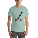 Emoji T-Shirt Store | Field Hockey emoji t-shirt in Green
