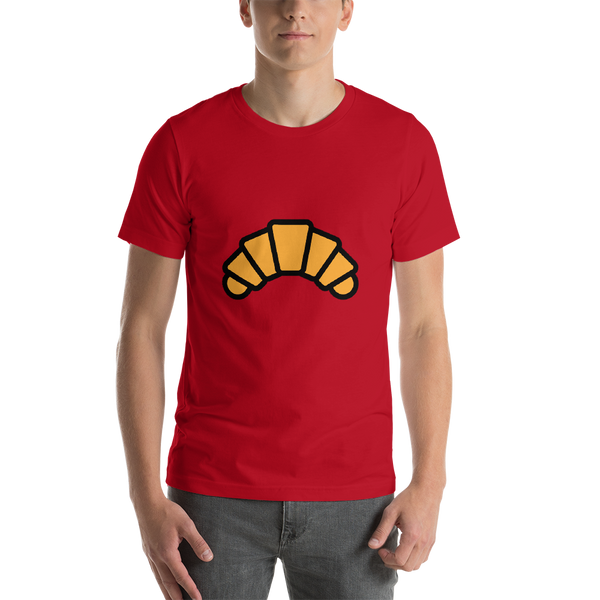 Emoji T-Shirt Store | Croissant emoji t-shirt in Red