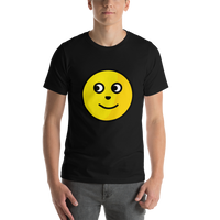 Emoji T-Shirt Store | Full Moon Face emoji t-shirt in Black