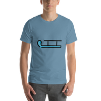 Emoji T-Shirt Store | Sled emoji t-shirt in Blue