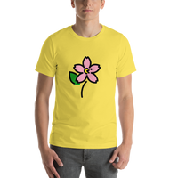 Emoji T-Shirt Store | Cherry Blossom emoji t-shirt in Yellow
