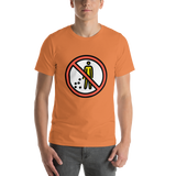 Emoji T-Shirt Store | No Littering emoji t-shirt in Orange