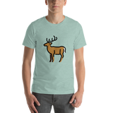 Emoji T-Shirt Store | Deer emoji t-shirt in Green