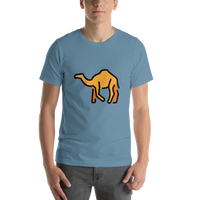 Emoji T-Shirt Store | Camel emoji t-shirt in Blue