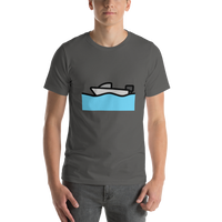 Emoji T-Shirt Store | Motor Boat emoji t-shirt in Dark gray