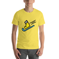 Emoji T-Shirt Store | Skis emoji t-shirt in Yellow