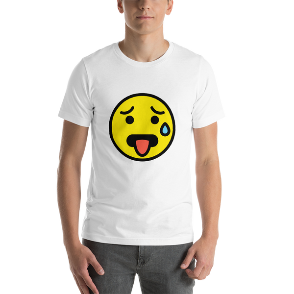 Emoji T-Shirt Store | Hot Face emoji t-shirt in White