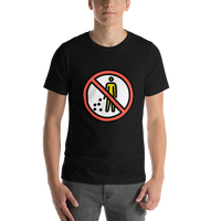 Emoji T-Shirt Store | No Littering emoji t-shirt in Black