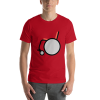 Emoji T-Shirt Store | Manual Wheelchair emoji t-shirt in Red
