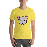 Emoji T-Shirt Store | Mouse Face emoji t-shirt in Yellow
