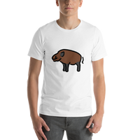 Emoji T-Shirt Store | Boar emoji t-shirt in White