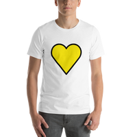 Emoji T-Shirt Store | Yellow Heart emoji t-shirt in White