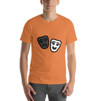 Emoji T-Shirt Store | Performing Arts emoji t-shirt in Orange