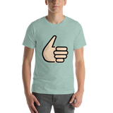 Emoji T-Shirt Store | Thumbs Up, Light Skin Tone emoji t-shirt in Green