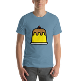 Emoji T-Shirt Store | Custard emoji t-shirt in Blue