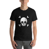 Emoji T-Shirt Store | Skull And Crossbones emoji t-shirt in Black
