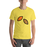 Emoji T-Shirt Store | Fallen Leaf emoji t-shirt in Yellow