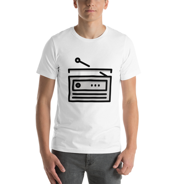 Emoji T-Shirt Store | Radio emoji t-shirt in White