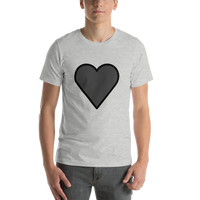 Emoji T-Shirt Store | Black Heart emoji t-shirt in Light gray