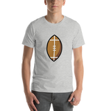 Emoji T-Shirt Store | American Football emoji t-shirt in Light gray