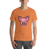 Emoji T-Shirt Store | Pig Face emoji t-shirt in Orange