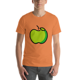 Emoji T-Shirt Store | Green Apple emoji t-shirt in Orange