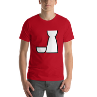 Emoji T-Shirt Store | Sake emoji t-shirt in Red