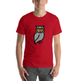 Emoji T-Shirt Store | Owl emoji t-shirt in Red