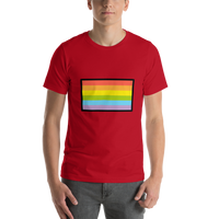 Emoji T-Shirt Store | Rainbow Flag emoji t-shirt in Red