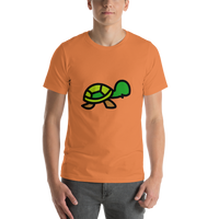 Emoji T-Shirt Store | Turtle emoji t-shirt in Orange