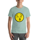 Emoji T-Shirt Store | Kissing Face With Closed Eyes emoji t-shirt in Green