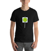 Emoji T-Shirt Store | Bus Stop emoji t-shirt in Black