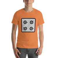 Emoji T-Shirt Store | Control Knobs emoji t-shirt in Orange