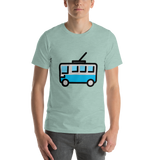 Emoji T-Shirt Store | Trolleybus emoji t-shirt in Green