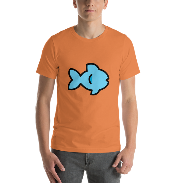 Emoji T-Shirt Store | Fish emoji t-shirt in Orange