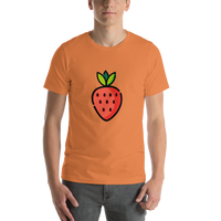 Emoji T-Shirt Store | Strawberry emoji t-shirt in Orange