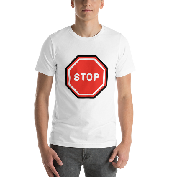Emoji T-Shirt Store | Stop Sign emoji t-shirt in White