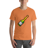 Emoji T-Shirt Store | Bottle With Popping Cork emoji t-shirt in Orange