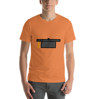 Emoji T-Shirt Store | Graduation Cap emoji t-shirt in Orange