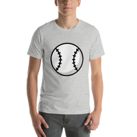 Emoji T-Shirt Store | Baseball emoji t-shirt in Light gray