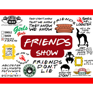 Friends TV Show SVGs