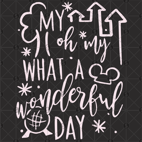 My oh my what a wonderful day, Mickey mouse svg, mickey mouse party, mickey and minnie, disney svg, disneyland svg, disney world, disney vacation, I think to myself, what a wonderful, louis armstrong art, jazz music,disney trip t-shirt,disney birthday,