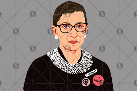 Ruth bader ginsburg art svg, ruth bader ginsburg, i dissent, ruth bader svg, ruth bader shirt, ruth ginsburg shirt, feminist svg, feminist shirt, feminist art,feminist gift, feminist poster, the future is female, svg files, svg files for cricut,