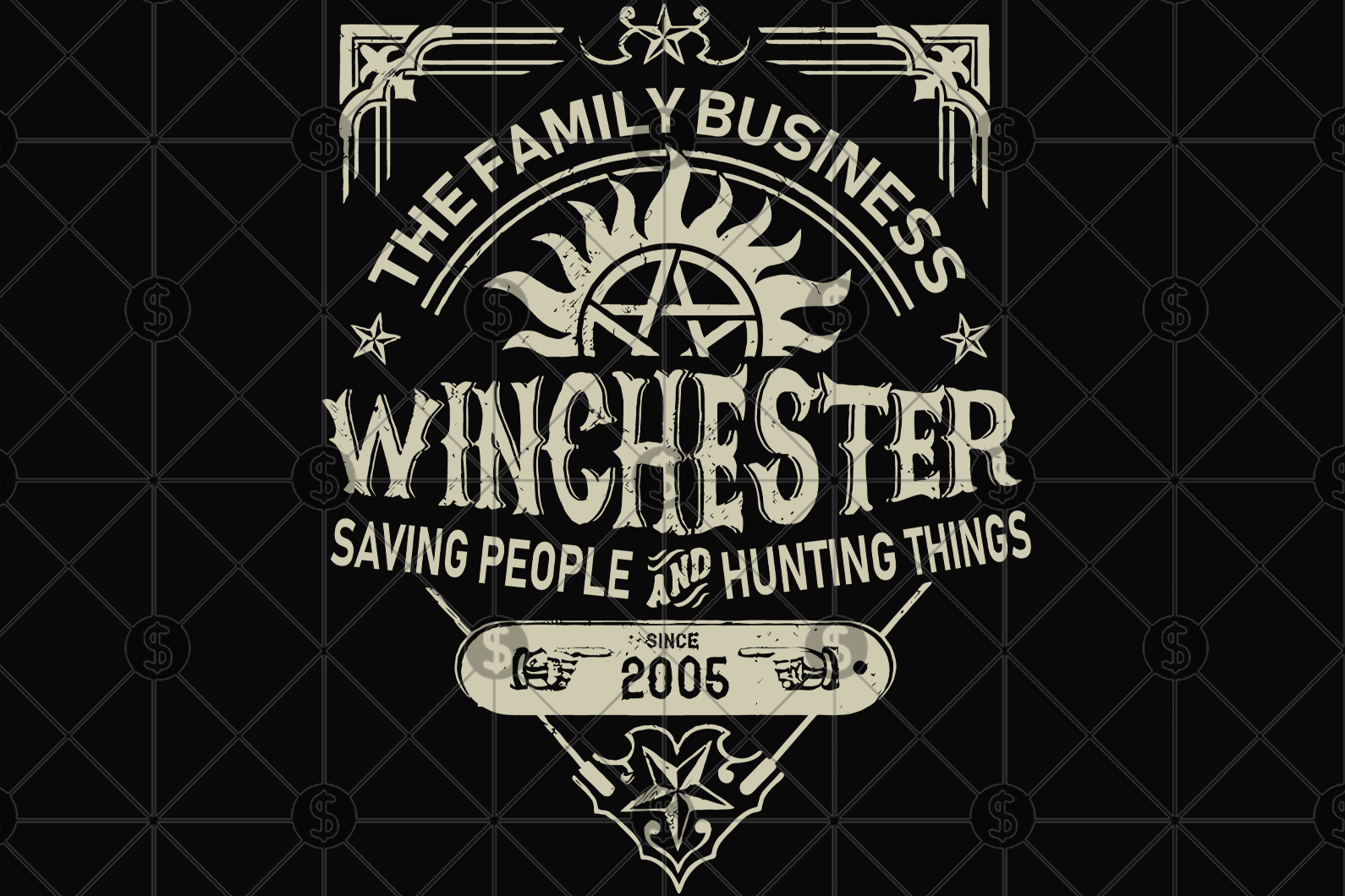 The Supernatural tv show bundle svg, supernatural shirt, supernatural pin, supernatural gift, supernatural decal, Dean Winchester, Winchester brothers, dean and sam, sam winchester, supernatural print, silhouette svg, svg files for cricut,