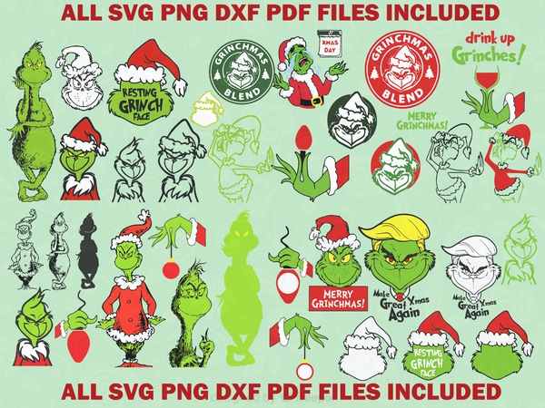 The grinch svg bundle, The grinch face, The grinch hand,grinch svg, The grinch svg, The grinch print, The grinch christmas, chrismas svg, grinch face svg, resting grinch face, grinch bundle svg, the grinch bundle svg, christmas gift,