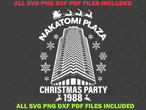 Nakatomi plaza christmas party 1988 svg, Nakatomi plaza svg,Nakatomi plaza,Nakatomi christmas,Nakatomi plaza 1988,christmas bundles, Christmas t-shirt, Christmas svg bundle, santa svg, santa