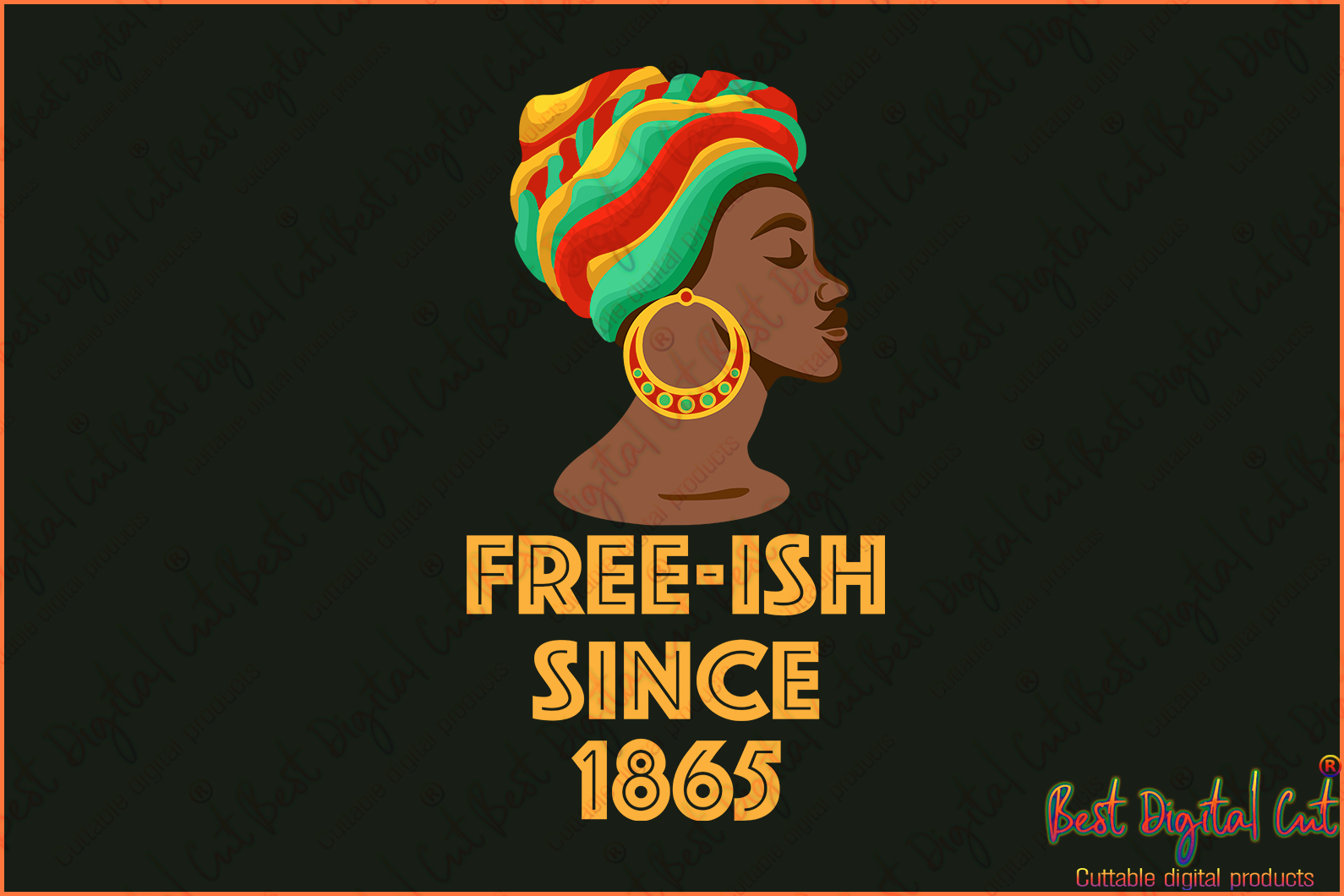 Free Ish Since 1865 Juneteenth Svg Freedom Day Svg June 19th Svg Emanc Best Digital Cut